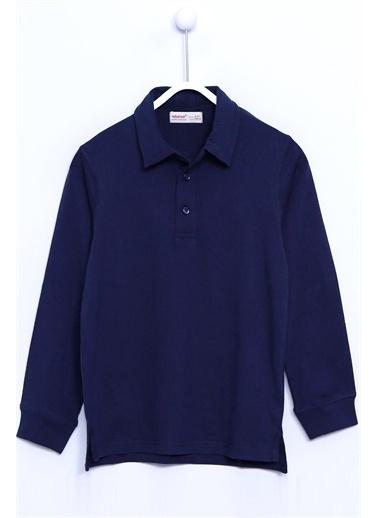 Silversun Kids Polo Gömlek Örme Uzun Kollu Polo Yaka Tişört Erkek Çocuk Bk 310474 Lacivert